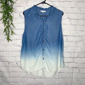 beachlunchlounge dip dye sleeveless tunic size XL